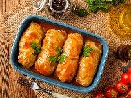 Рецепта Класически зелеви сарми от кисело зеле с телешка кайма и кафяв ориз в тенджера под налягане